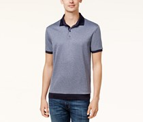 Vince Camuto Men's Contrast Trim Knit Polo, Grey