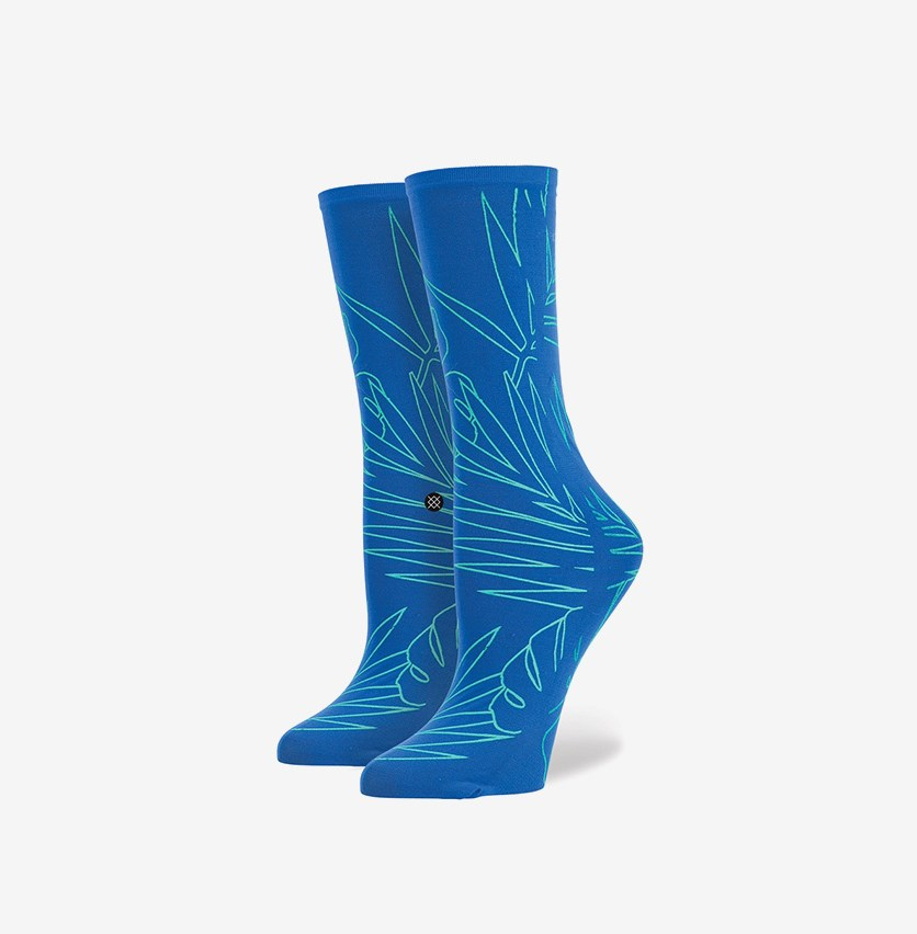 Women's Palmy Socks, Blue