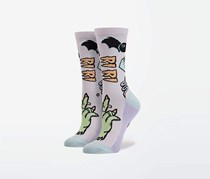 Stance Punk N Patch Socks, Pink Combo