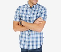 Nautica Men's Sailor Plaid Shirt, Cameo Blue