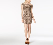 GUESS Navine Off-The-Shoulder Bodycon Classic, Leopard Natural