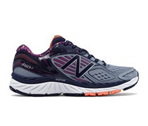 New Balance Women's Shoes, Grey/Navy/Purple