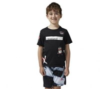 Reebok Boy's Graphic Top, Black