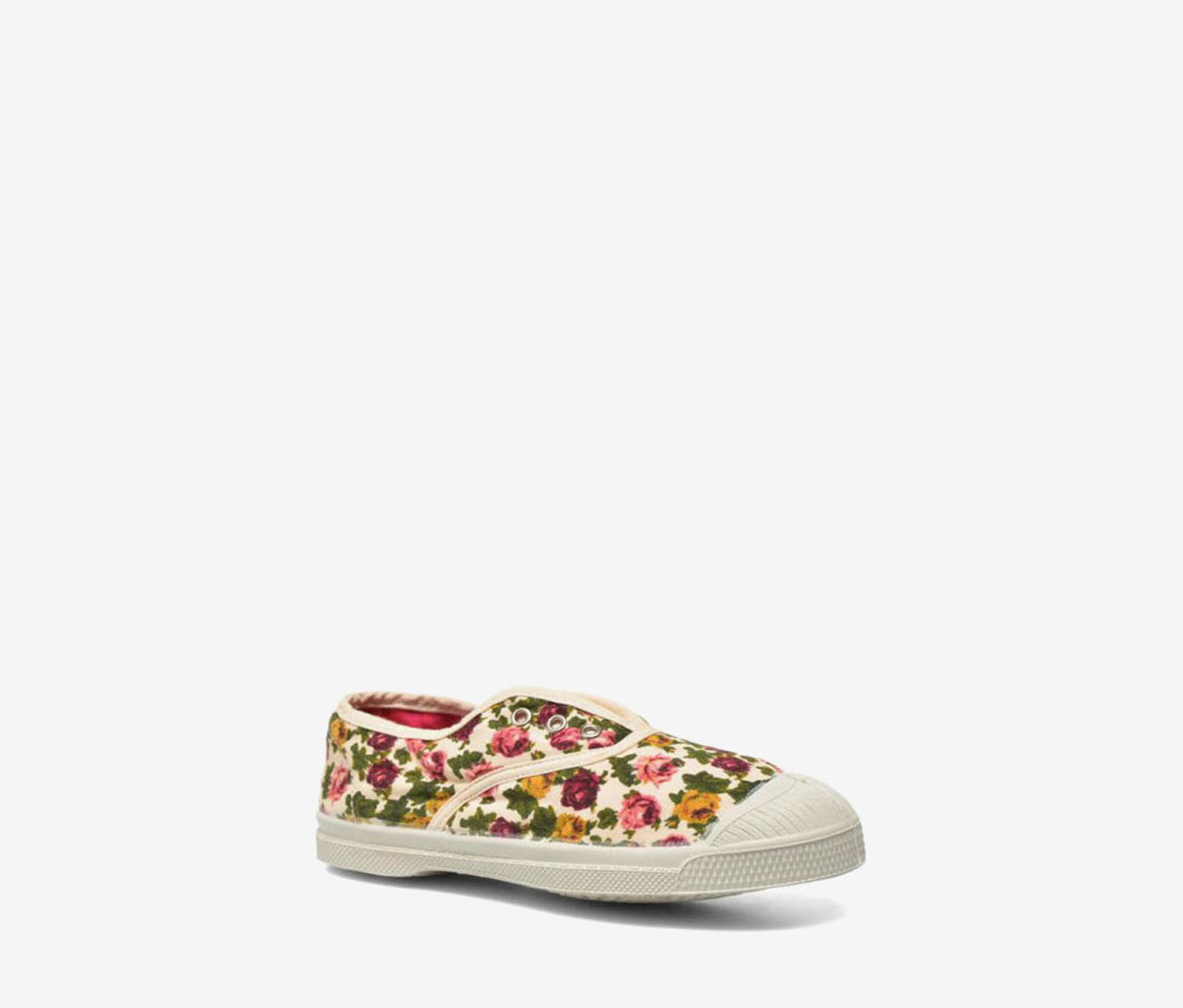 Bensimon Baby Girl's Floral Sneakers, Red/Pink/Off White