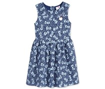 Hello Kitty Lace Bow-Print Dress, Blue