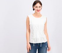 William Rast Women's Corset Detail Top, Off White