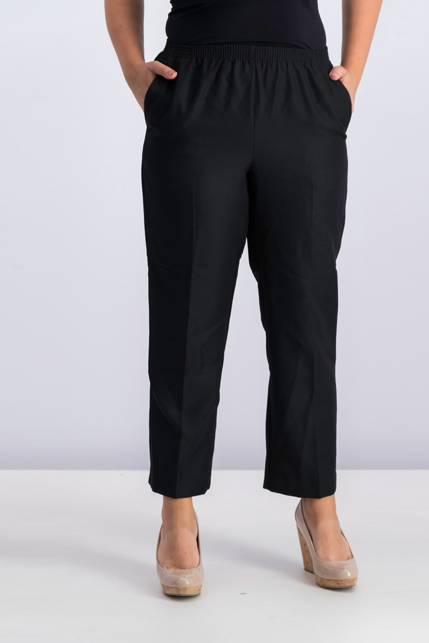 Women's Petite Pull-On Pants, Black