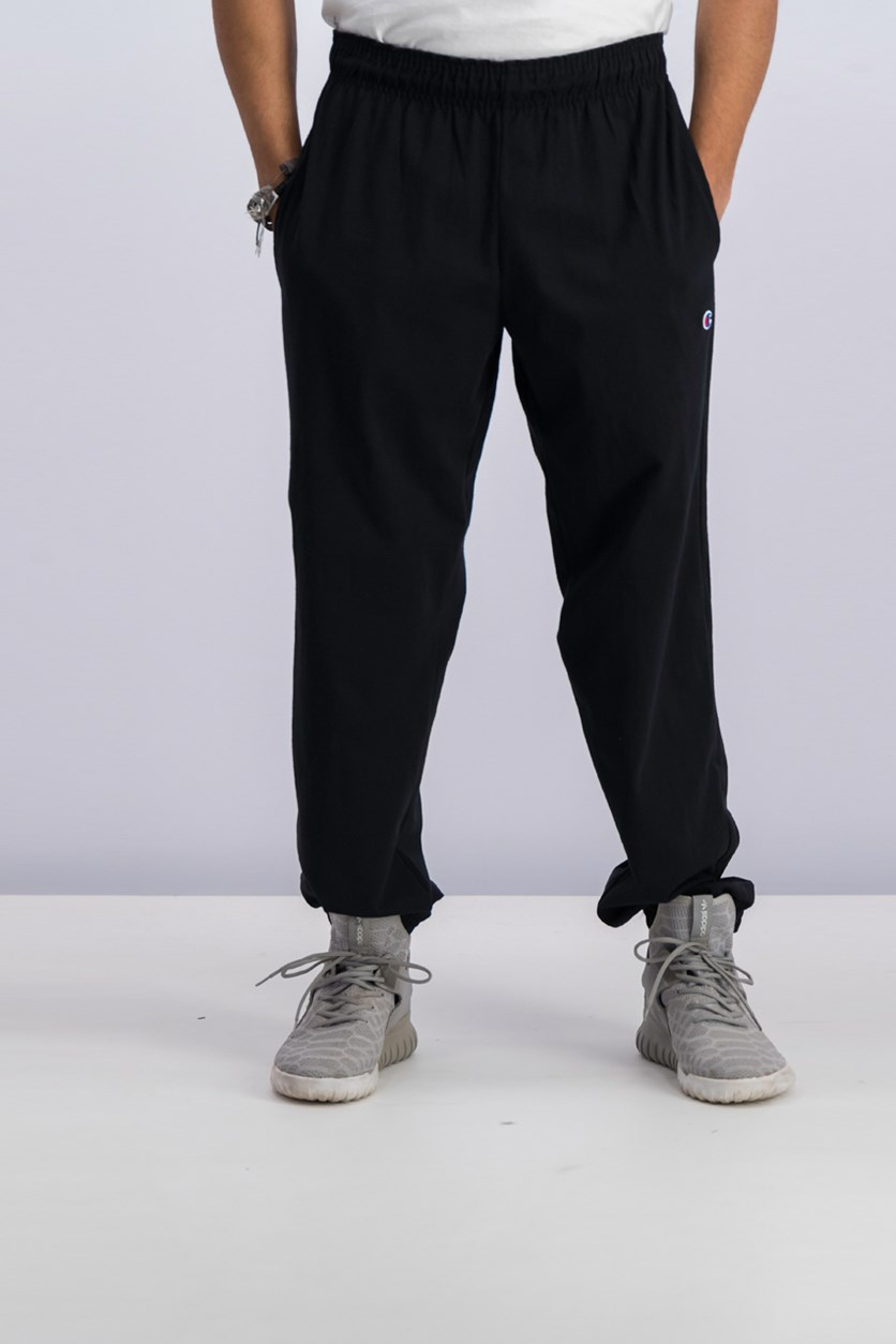 Closed Bottom Jersey Pants, Black