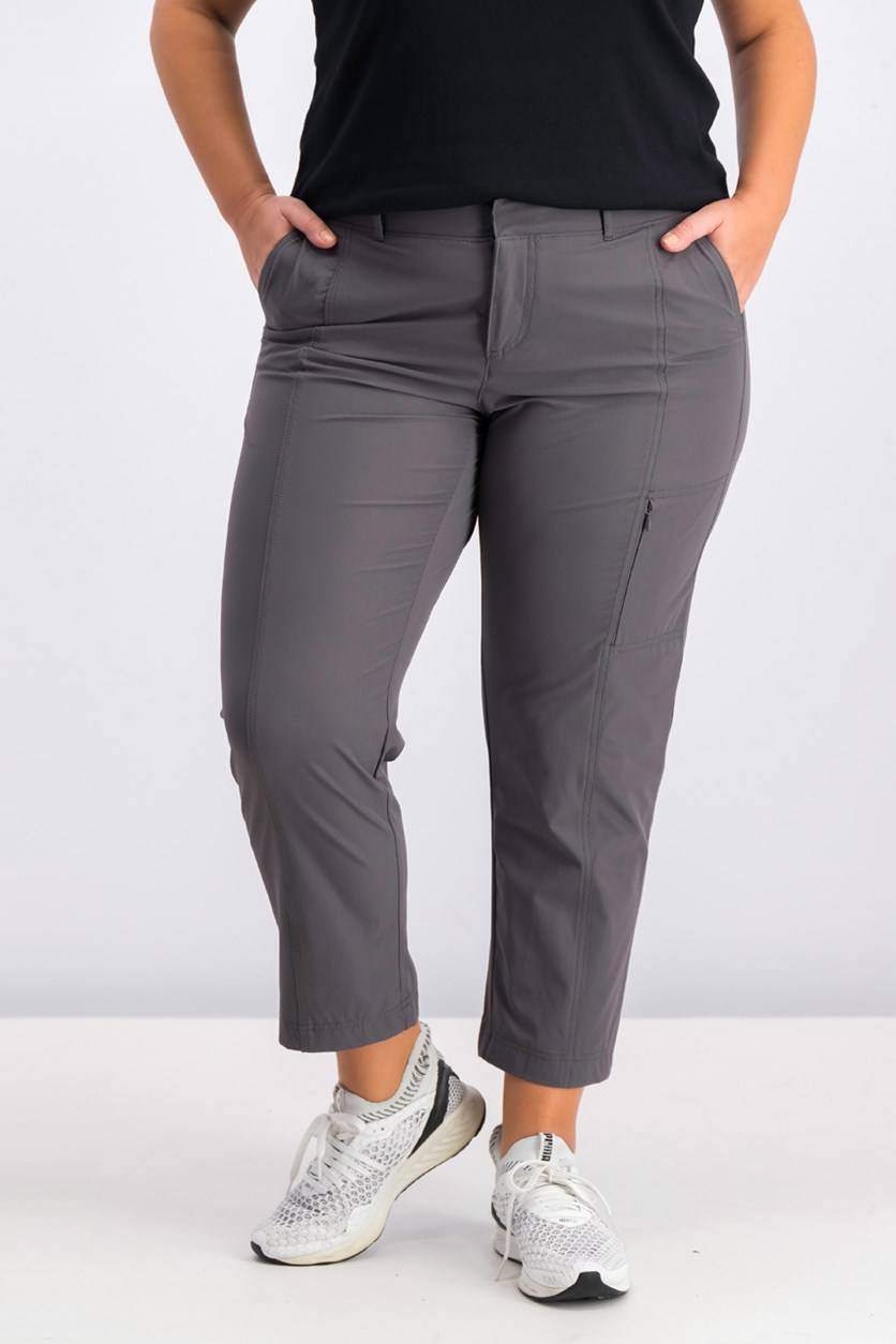 Ladies' Ankle Length Travel Pants, Grey