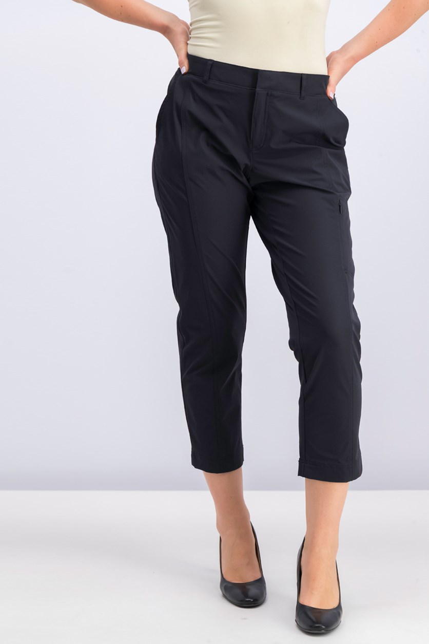 Ladies' Ankle Length Travel Pant, Black