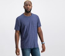 32 Degrees Mens Pocket T-Shirt, Navy/Black