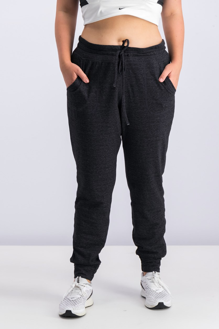 Women's Fleece Jogger Pants, Charcoal