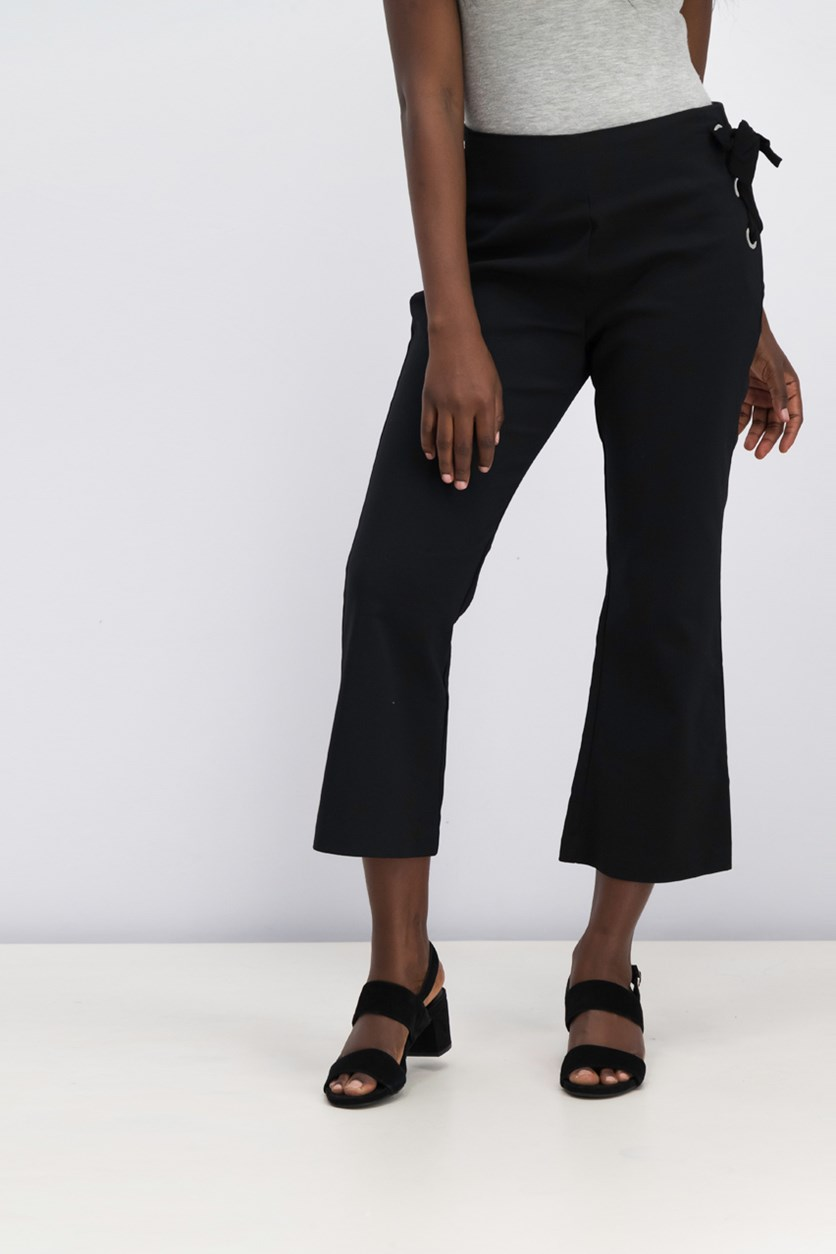 Women's Wide Hem Pants, Black