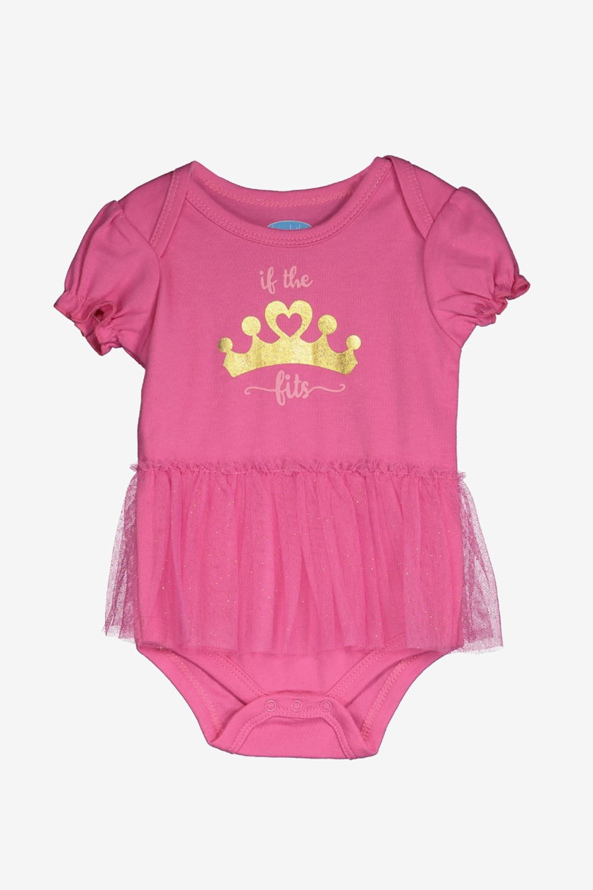 Toddlers If The Fits Print Bodysuit, Intense Pink