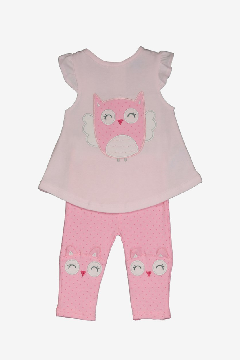 Baby Girl Tops & Legging Set, Pink