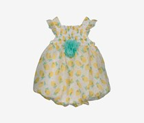 Bon Bebe Baby Girl's Printed Dress, Yellow/White