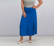 Lauren Ralph Lauren Crepe A-Line Skirt, Atmosphere Blue