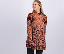 Free People Lady Luck Print Tunic, Burgundy Combo