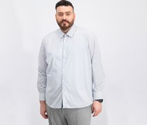 Mens Slim-Fit Geo-Print Shirt, White Combo