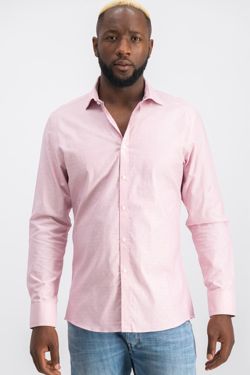Slim-Fit Techni-Cole Shirt, Red Dobby