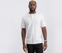 Theory Men's Relaxed Stripe Henley, White