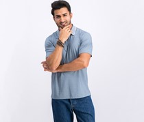 Theory Standard Current Pique Polo, Hydro White