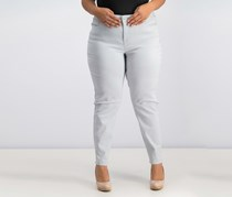 Style & Co Curvy-Fit Skinny Jeans, Misty Harbor