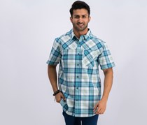 Mens Thompson Hill Polo, Teal Plaid