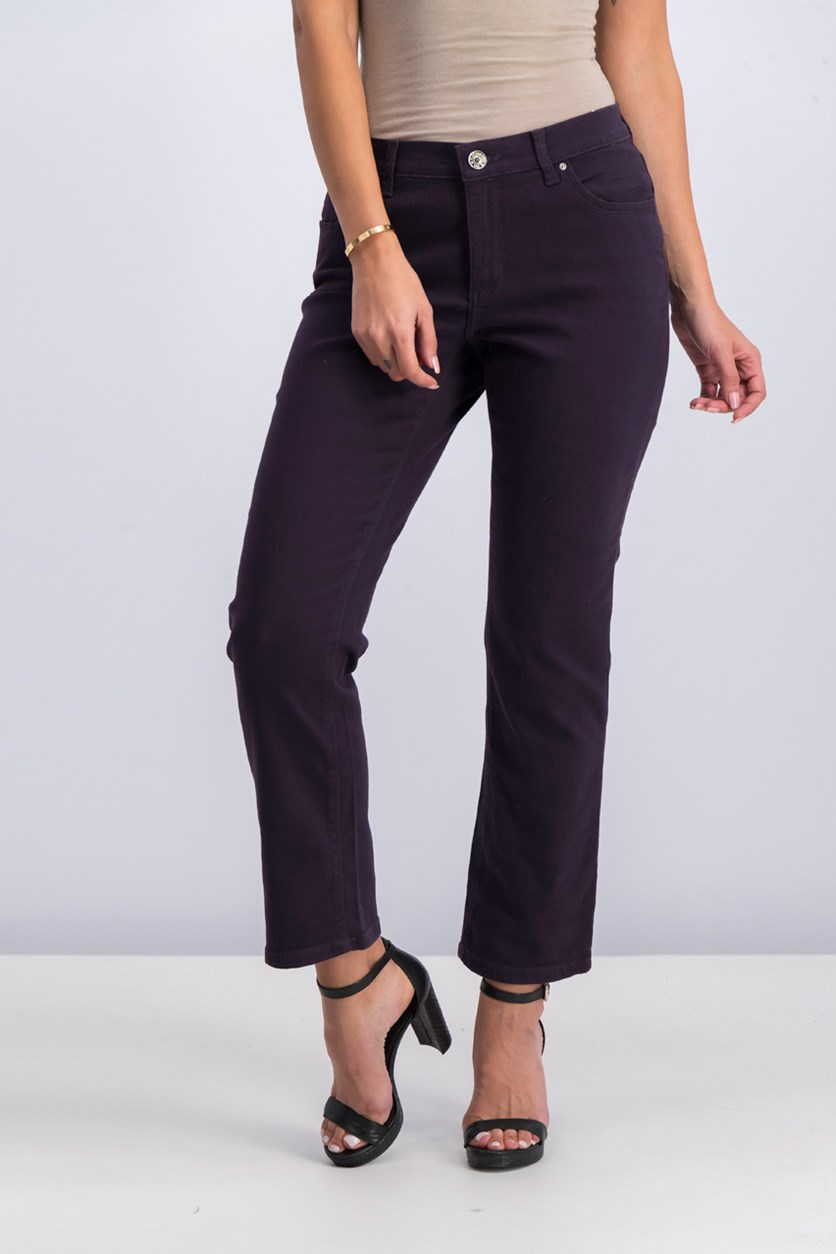 Petite Gwen Straight-Leg Jeans, Regal