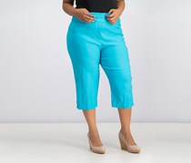 Alfred Dunner Turks & Caicos Allure Pull-On Capri Pants, Turquoise