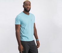 Levi's Mens V-neck Casual T-shirt, Reef Water
