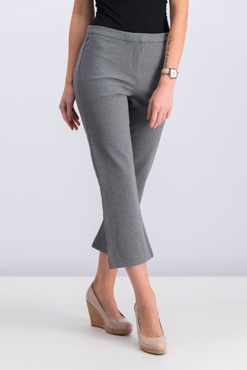 Women's Capri Dress Pant, Heather Grey