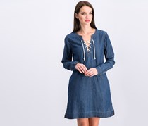 Sanctuary Faith Lace-up Denim Shift Dress, Faith Wash