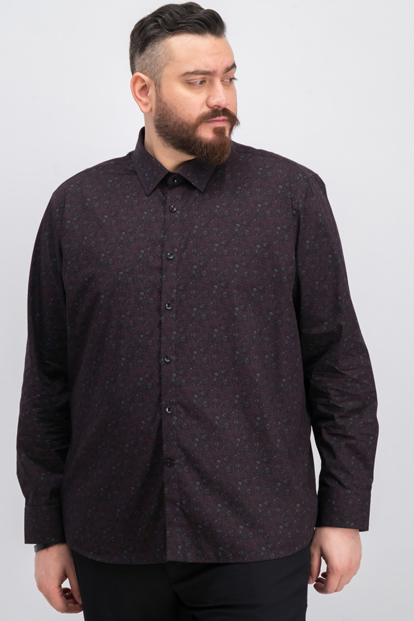 Men's Woven Floral Shirt, Port
