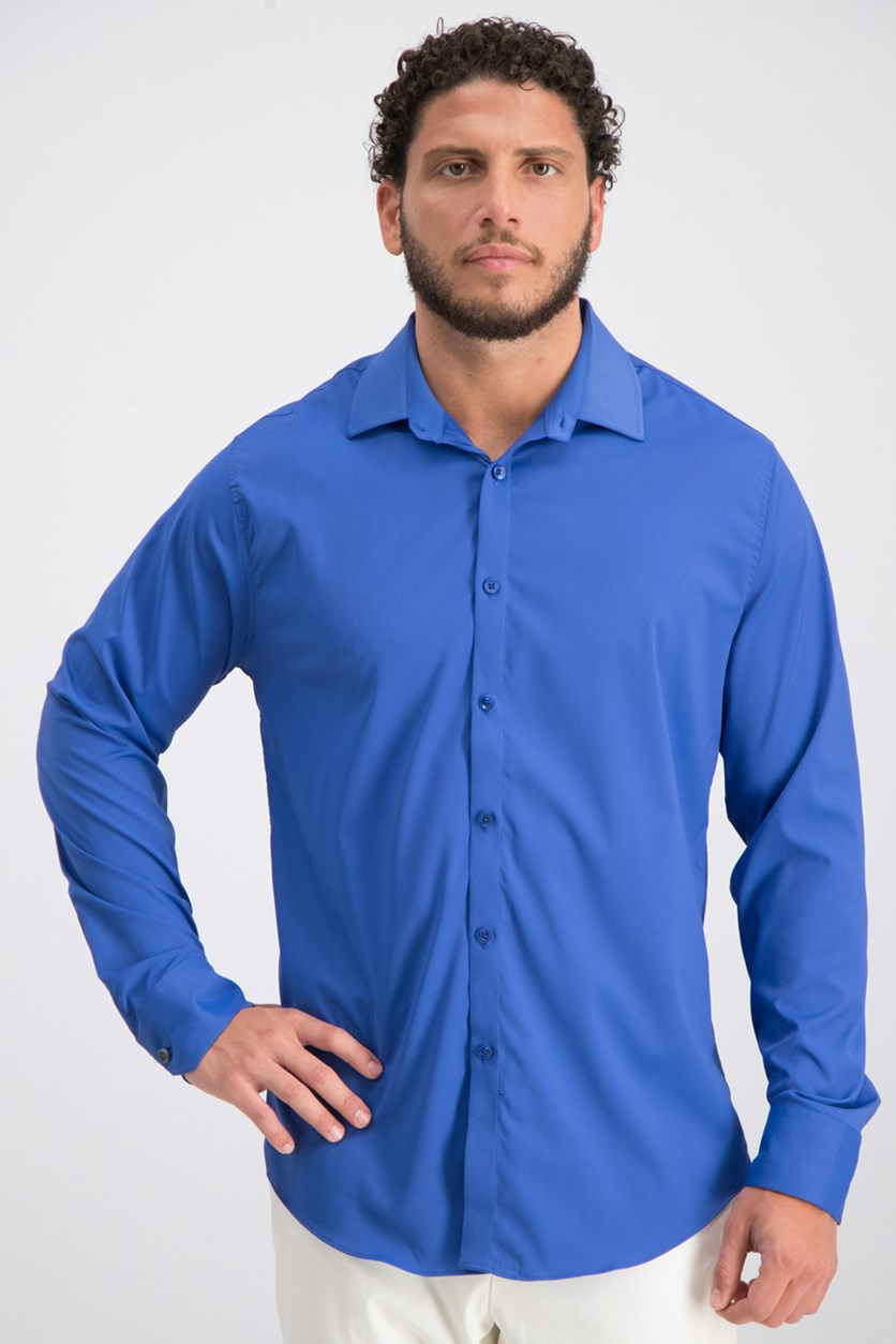 Men's Modern-Fit Stretch Shirt, Bright Blue
