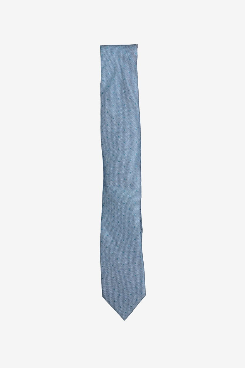 Mens Dot Self-tied Necktie, Navy