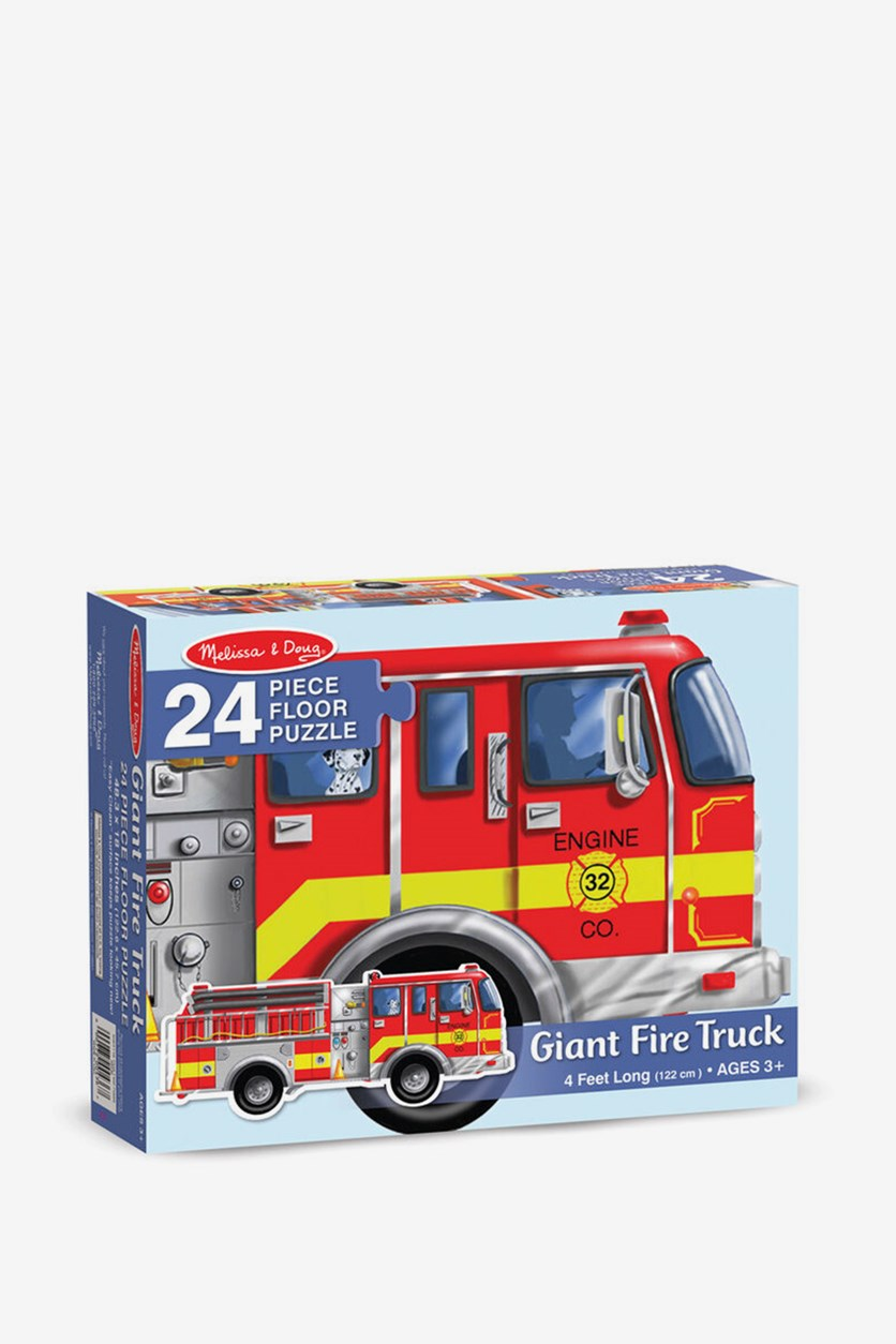 Giant Fire Truck Floor Puzzle, Red Combo