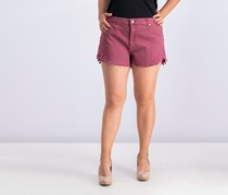 Women's High-rise Shorts, Berry