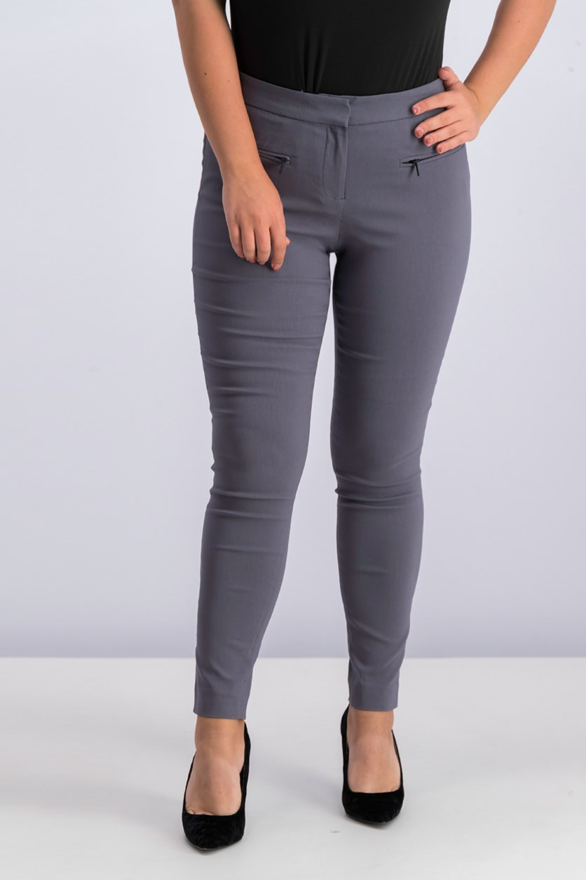 Women's Front Pocket Pants, Grey