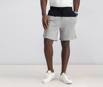 2xist Mens Colorblocked Terry Short, Heather Grey