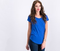 Women's Short Sleeves Blouse, Pacific Blue