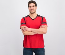 INC Men's Colorblocked T-Shirt, Licorice Red