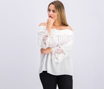 Inc International Concepts Cold-Shoulder Top, White