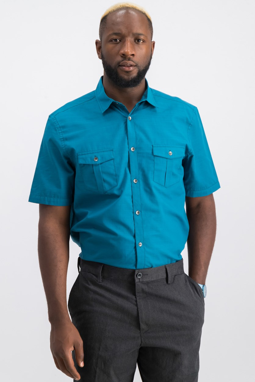 Men's Dual Pocket Shirt, Azurite
