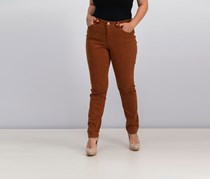 Women Curvy-Fit Skinny Jeans, Raw Hide
