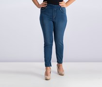Tribal Womens Pull On Jeans, Retro Blue