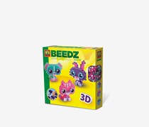 SES Creative 3D Animal Friends 1900 Iron Beads, Pink/Purple/Aqua