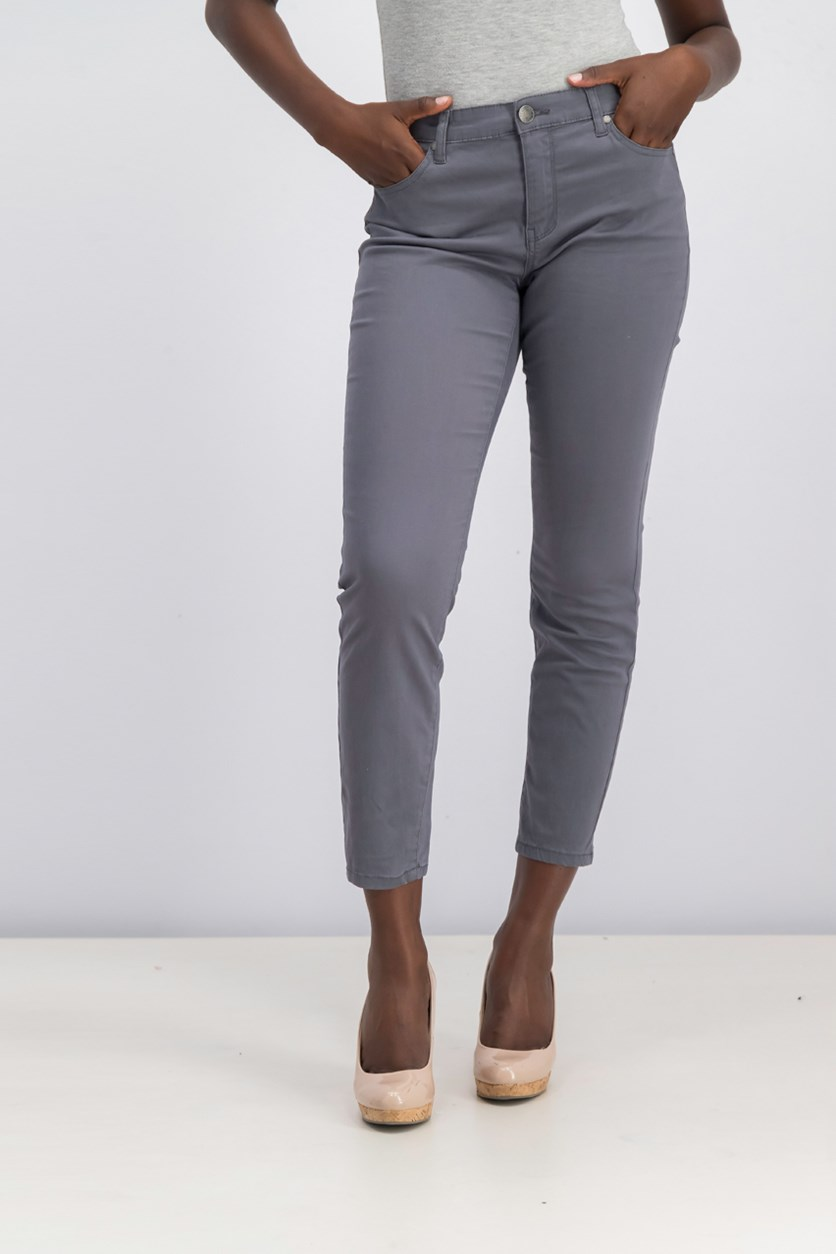 Women's Stretch Skinny Ankle Grazer, Dark Grey