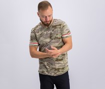 Buffalo David Bitton Mens V-Neck Camo T-Shirt, Laurier