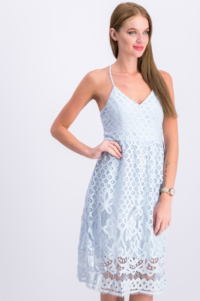Women's Lace Dress, Blue